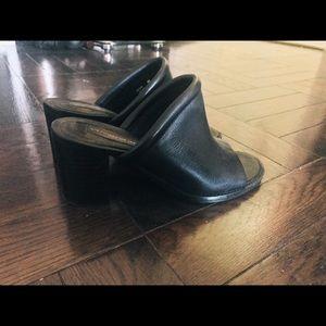 Steven by Steve Madden leather black mules